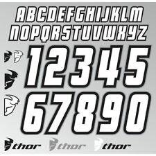 Thor MX Enduro Motocross Fahrershirt Jersey Aufkleber Nummer z. Aufbügeln IT Kit