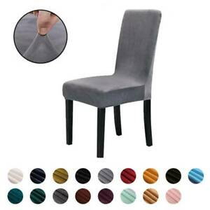 Elastic Stretch Solid Chair Cover Dining Room Wedding Banquet Party Wrap Seat