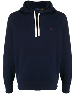 NEW Polo Ralph Lauren embroidered logo hoodie - Navy RRP £135