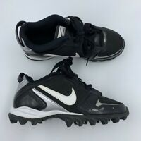 Nike Land Shark Legacy Boys Football Cleats Black Lace Up Low Top 396262-011 2Y
