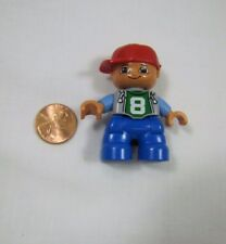 "LEGO DUPLO RED HAT SKATE BOY TODDLER 2"" FIGURE for FAMILY HOME HOUSE Rare #8"