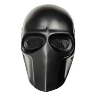 Army of Two Black Wire Mesh Full Face Protection Paintball Skull Mask Cosplay US