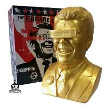 The Gipper Frank Kozik Reagan Ultraviolence Vinyl Art Bust Gold