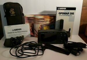 COMPLETE Garmin GPSMAP 295 Aviation Nagivator WITH Yoke Mount Guides VHS Cords