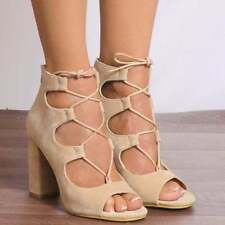 Block Party Open Toe Heels for Women