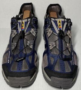 Salomon 643001 Contagrip Blue Trail Running Sneaker Shoes Men's Size 12 US