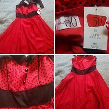 Nineteen50 New Red Polka Dot Dress