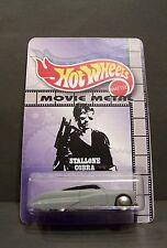 "Custom HotWheels MERCURY and package  ""Movie Metal""  stallone's COBRA"