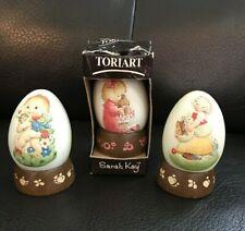 Vintage Anri Ferrandiz Annual Eggs w/Stands