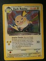 1x Dark Raichu 83/82 Team Rocket Holo Rare Pokemon Card
