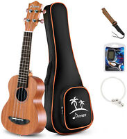 Donner 21 inch Soprano Ukulele Uke w/Bag Strap String Tuner For Beginner Gift