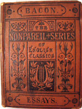 OLD ANTIQUE BOOK BACON ESSAYS AND APOPHTHEGMS