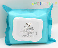 New BOOT'S No 7 Quick Thinking 4in1 Wipe Makeup Remover (30 Wipes)100% Authentic