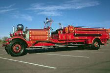780062 1930 Ahrens Fox Front end Pump Fire Engine A4 Photo Print
