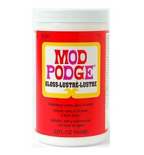 32oz MOD PODGE GLOSS FINISH GLUE ADHESIVE SEALER VARNISH DECOUPAGE & MORE