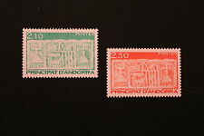 ANDORRE FRANCAIS - timbre Yvert&Tellier n°390 et 391 n**- stamp andorra (cyn1)
