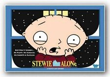 CARTOON POSTER Family Guy Stewie Alone