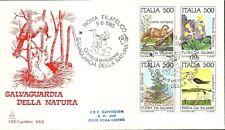ITALIA BUSTA CAPITOLIUM NTURA FLORA E FAUNA LONTRA PRIMULA ANNULLO ROMA FDC 1985