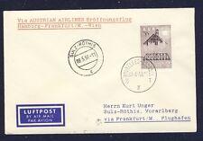 42714) AUA FF Frankfurt - Wien 5.5.58 Brief ab Belgien, R!