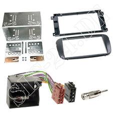 Doppel-DIN Autoradio Einbauset Rahmen ISO Adapter Blende Ford C-MAX S-MAX schwar