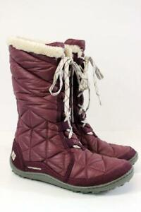 COLUMBIA Purple Dahlia POWDER SUMMIT II Mid Snow Boots Waterproof Womens 6 M