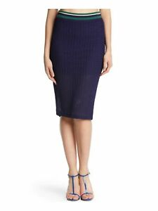 KIIND OF Womens Navy Knee Length Pencil Casual Skirt M