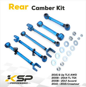 fit 08-17 Accord 09-14 Acura TSX TL REAR Camber Kit PAIR Set of 6 pcs
