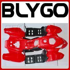 RED Plastics Fairing Fender Guards Cover Kit 110cc 125cc Quad Dirt Bike ATV