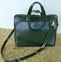 "Leather Womens Portfolio Briefcase Laptop Bag 922505 17x13x5"""