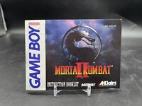 Mortal Kombat II 2 Game Boy Nintendo Instruction Manual Only - Very Good