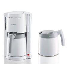 Severin KA 9233 Weiss-Grau Filter-Kaffeemaschine zwei Isolierkannen 800 Watt