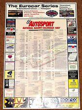 Autosport 1997 NATIONAL RACING CALENDAR - BTCC Club Meets FF1600 F2 F3 F3000 etc