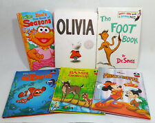 Children's Books Lot Of 6 Finding Nemo Bambi Grows UP Olivia Disney Dr. Seuss