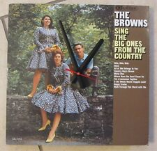 THE BROWNS- ALBUM CLOCK!***MAKES A GREAT GIFT!**FREE SHIPPING!