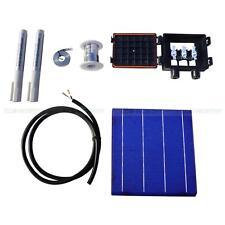 320W DIY Solar Panel Kit 80pcs 6x6 Solar Cells w/ Tab Bus Flux Pen J-Box 4.3W/pc