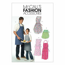 McCall's 5551 Sewing Pattern to MAKE Aprons Tabards in Misses Men Children Sizes