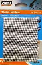 FLY SCREEN REPAIR PATCH 100M X 80MM Perma Adhesive 3 Pcs