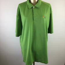 Nike Dri-Fit Button Front Green Collared Golf Polo Men's Size Xl