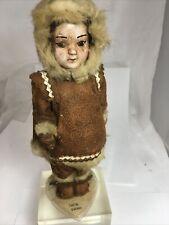 New Listing1950 Hand Sewn Ethnic Doll Eskimo