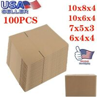 SHIPPING BOXES -100 PCS Cardboard Mailing Packing Corrugated Box Cartons 4 Sizes