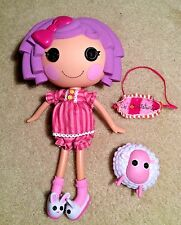 """Lalaloopsy Doll Pillow Feather Bed 12"""" With Sheep and Sleep Mask 2009"""