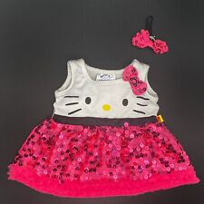New ListingBuild a Bear Hello Kitty Pink Bl 00004000 ack White Sequin Ruffle Tulle Dress & Bow Outfit