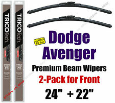 Wipers 2-Pack Premium Wiper Beam Blades - fit 2008-2014 Dodge Avenger 19240/220