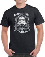 382 Imperial Academy mens T-shirt funny jedi movie star geek nerd wars vintage
