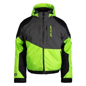 New Men's Arctic Cat Sleet Snowmobile Jacket - Green- 2XL - #5310-118