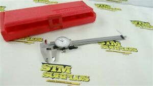 """MINT! MITUTOYO 6"""" PRECISION DIAL CALIPERS .001"""" 505-626 STAINLESS HARDENED CASE"""