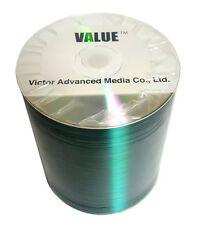 100 JVC Taiyo Yuden Value Line CD-R CDR 52X 700MB Silver Shiny Media Disc
