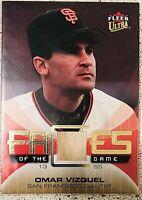 2007 Fleer Ultra Faces of the Game Materials #GF-OV Omar Vizquel Baseball Card