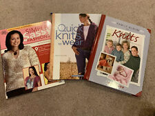3 Knitting BooksSweater Patterns and More