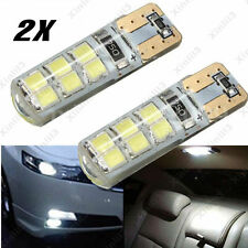 2pc Auto T10 194 W5W COB 2835 SMD 12 LED Canbus Bright License Plate Light Bulbs